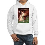 Seated Angel & Boxer Hooded Sweatshirt