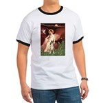 Seated Angel & Boxer Ringer T