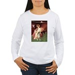 Seated Angel & Boxer Women's Long Sleeve T-Shirt