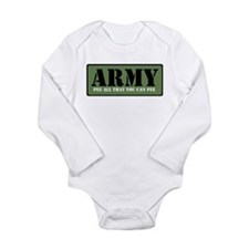"Pee all that you can pee"" Infant Creeper Body Suit"
