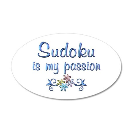 Sudoku Passion 20x12 Oval Wall Decal