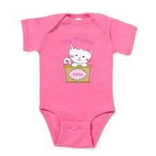 Personalized Kitty Big Sister Baby Bodysuit