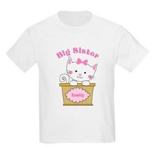 Personalized Kitty Big Sister T-Shirt