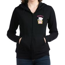 Personalized Kitty Big Sister Zip Hoodie
