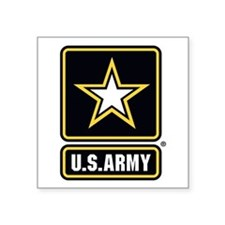 "U.S. Army Star Logo Square Sticker 3"" x 3"""