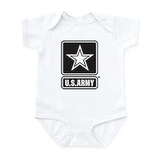U.S. Army Star Logo [b/w] Onesie