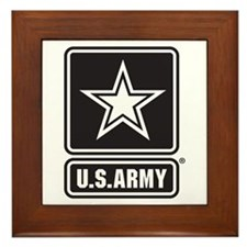 U.S. Army Star Logo [b/w] Framed Tile
