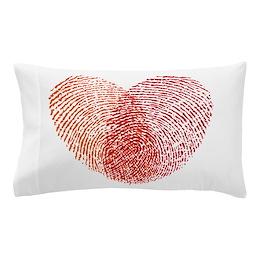 Heart Print Pillow Case