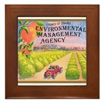 Orange County E.M.A. Framed Tile