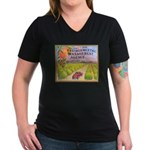 Orange County E.M.A. Women's V-Neck Dark T-Shirt