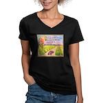Orange County E.M.A. Women's V-Neck Dark T-Shirt