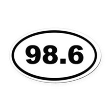98.6 Oval Car Magnet