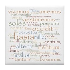 Catullus Ancient Colors Tile Coaster