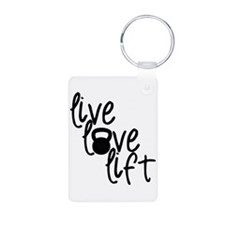 Live, Love, Lift Keychains
