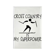 CROSS COUNTRY is My Superpower Rectangle Magnet (1