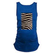zebra black white Maternity Tank Top