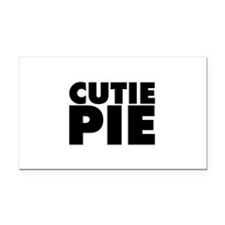 Cutie Pie Rectangle Car Magnet
