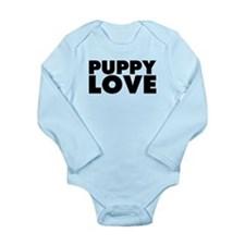 Puppy Love Long Sleeve Infant Bodysuit