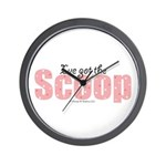 I've Got the Scoop Editor Wall Clock