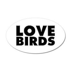 Love Birds 20x12 Oval Wall Decal