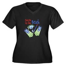 Point me to the Beach Plus Size T-Shirt