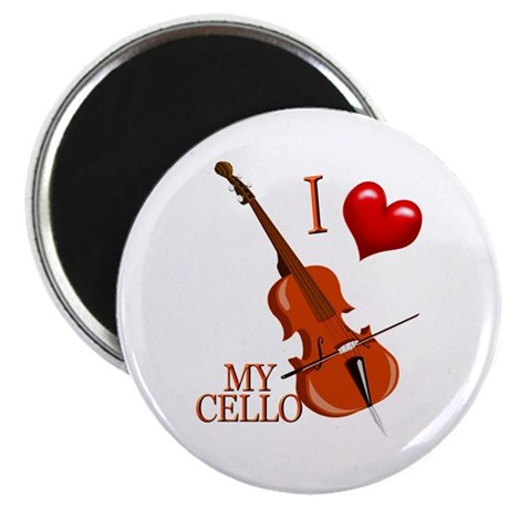 I Love My CELLO Magnet