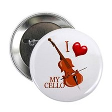 "I Love My CELLO 2.25"" Button (10 pack)"