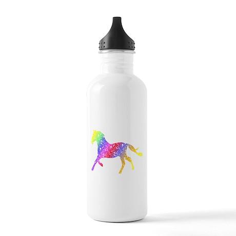 Unique Floral Horse Water Bottle