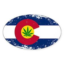 Colorado Marijuana Flag Decal