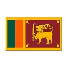 Sri Lanka Flag Rectangle Car Magnet