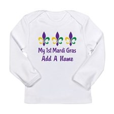 Personalized 1st Mardi Gras Long Sleeve T-Shirt