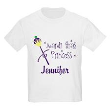Mardi Gras Princess Personalized T-Shirt