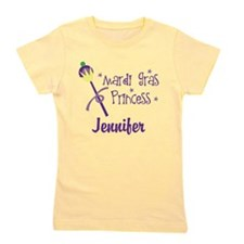 Mardi Gras Princess Personalized Girl's Tee