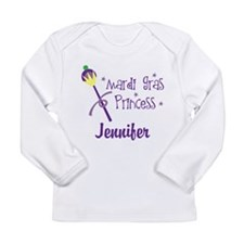 Mardi Gras Princess Personalized Long Sleeve T-Shi