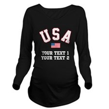 PERSONALIZE Team USA Long Sleeve Maternity T-Shirt
