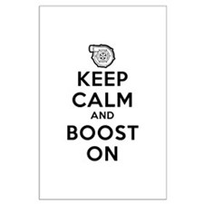 Keep Calm Boost On Large Poster