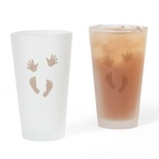 Adorable Baby Hand and Feet Drinking Glass