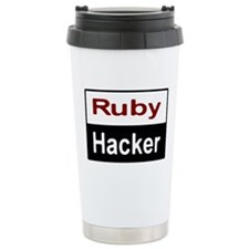 Ruby hacker Stainless Steel Travel Mug