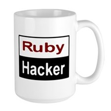 Ruby hacker Large Mug