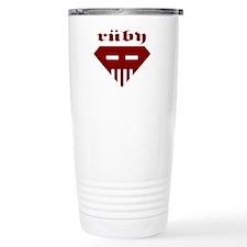Speed-metal Ruby Stainless Steel Travel Mug