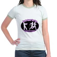 Zombies Against Fast Food (purple) T-Shirt