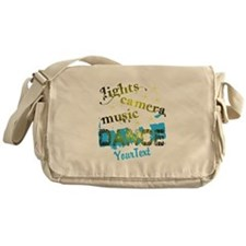 Lights Dance Optional Text Messenger Bag