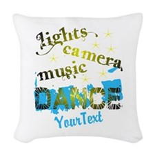 CUSTOMIZE Text Dance Woven Throw Pillow