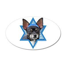 Hanukkah Star of David - Chihuahua 35x21 Oval Wall