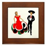 Mexican Dancers Framed Tile