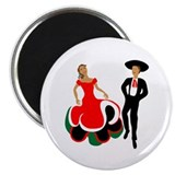 "Mexican Dancers for Cinco de 2.25"" Magnet (100 pa"