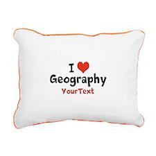 Customize I Love Geography Rectangular Canvas Pill
