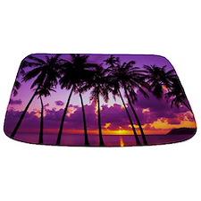 Purple Tropical Sunset 2 Bathmat