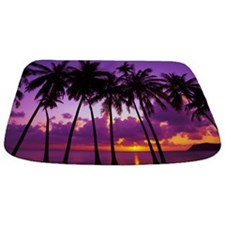 Purple Tropical Sunset Bathmat