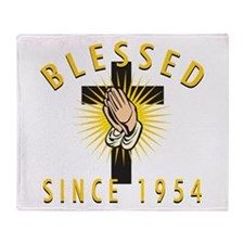 Blessed Since 1954 Throw Blanket